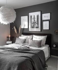 Room Ideas Bedroom, Home Bedroom, Bedroom Decor, Grey Bedroom Design, Aesthetic Room Decor, Master Bedroom Makeover, Home Office Decor, Home Decor, Loft Design