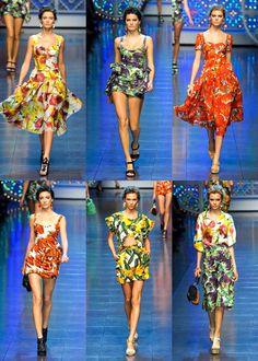 From Dolce & Gabbana Spring 2012 Fruit and Vegetable prints