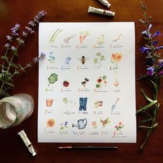 The first prints of the Garden Watercolor Alphabet are now available in my Etsy shop! Alphabet Print, New Words, Playroom, Giclee Print, Digital Prints, Nursery, Hand Painted, Etsy Shop, Watercolor