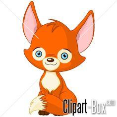 CLIPART CUTE BABY FOX