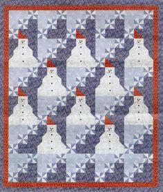 Quilt Inspiration: Free pattern day: Snowmen !