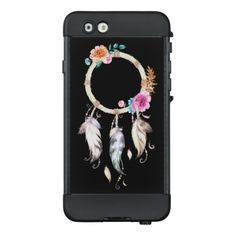 Pretty Watercolor Floral Dreamcatcher LifeProof® NÜÜD® iPhone 6 Case. #iphone6case #lifeproofcases