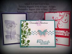 August 2014 Quick and Cute Card Class