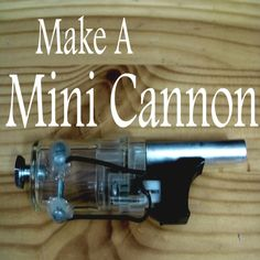 This is how to make a mini combustion cannon sized to fire airsoft pellets. The only materials required are a BBQ lighter, a few screws, epoxy or other strong glue, and a drill.