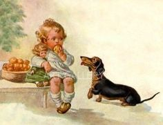 Always needing food Vintage Dachshund, Dachshund Art, Shelter, Printed Magnets, Terrier, Postcard Art, Cool Pets, Vintage Postcards, Club