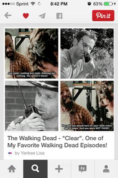 Morgan and Rick 😥 THE WALKING DEAD IS MY FAVORITE SHOW IM SO ADDICTED