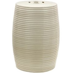 Beige Ribbed Porcelain Garden Stool (China) - Overstock™ Shopping - Big Discounts on Stools
