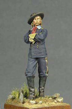 Custer as a Civil War hero c 1865 Civil War Heroes, Civil War Art, Small Soldiers, Toy Soldiers, American Civil War, American History, History Major, Home Guard, Military Figures