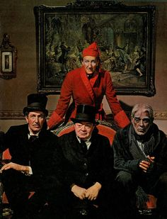 'Homies of Horror' --  Vincent Price, Peter Lorre, Basil Rathbone  (standing) and Boris Karloff -- publicity photo for their 1963 film Comedy of Terrors