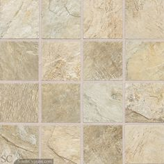 "Franciscan Slate 3"" x 3"" - Desert Crema Mosaic By SouthCypress.com"