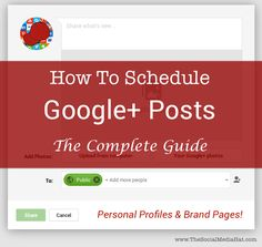 Whether for your personal profile or your brand page, the desire and question of how to schedule Google Plus posts is one that comes up daily, yet the answers aren't obvious. Here are ALL of your options.