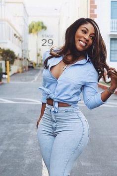 fine ebony women in jeans Black Girl Magic, Black Girls, Sweet Jeans, Ebony Women, Beautiful Black Women, Fashion Outfits, Womens Fashion, Ladies Day, Beauty Women