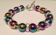 Happy Holidays Hematite Bracelet by URBANQUEST on Etsy, $19.95