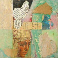 Patti Agapi. Transcended, mixed media collage.