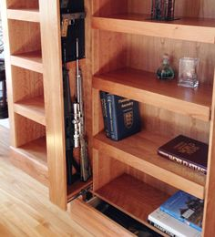 SafeGuard Shelving System provides stealth and security with secret hidden  compartments.