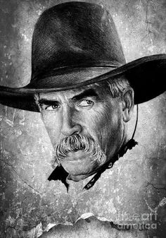 Sam Elliot Drawing by Andrew Read Celebrity Drawings, Celebrity Portraits, Katharine Ross, Graphite Art, Cowboy Pictures, Sam Elliott, Tom Selleck, Tv Westerns, People Of Interest