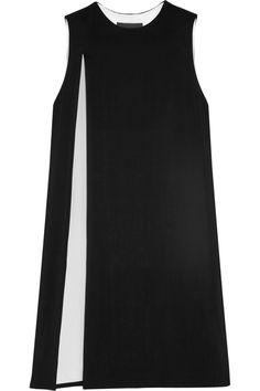 Alexander Wang|Two-tone stretch-crepe dress|NET-A-PORTER.COM