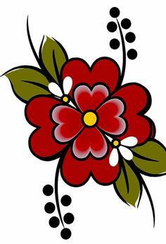 15 Best Ideas For Embroidery Patterns Ideas Fabrics Beading Patterns, Flower Patterns, Flower Designs, Embroidery Patterns, Tole Painting, Fabric Painting, Rock Flowers, Illustration Blume, Beadwork Designs