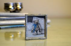 Teddy With The Blue Bow by Cindy Lotter