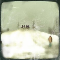 """""""meet me at sled hill"""" by Janine Graf Mobile Photography, Digital Photography, Art Photography, Camera Apps, Snow Art, Photo Store, Paper Birds, Lomography, Coups"""