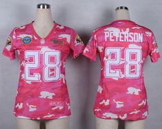 Womens Minnesota Vikings 28 Peterson 2014 Pink Camo flag version  Jerseyscheap nfl jerseys 20281b6b9