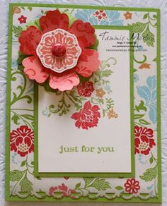 Fresh Vintage with Blossom Punch card