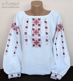 Frock Fashion, Fashion Wear, Fashion Outfits, Mexican Shirts, Ethno Style, Palestinian Embroidery, Shirt Embroidery, Embroidered Clothes, Casual Wear