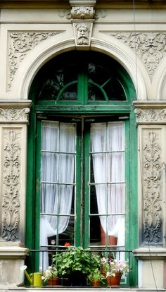 French green window, Upper West Side, NY