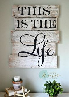 """""""This is the Life"""" wood sign {customizable} – Aimee Weaver Designs, LLC"""
