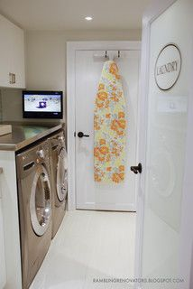 Basement Laundry Room - contemporary - laundry room - toronto - by Jennifer - Rambling Renovators
