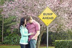Pregnancy annoucement: Bump Ahead