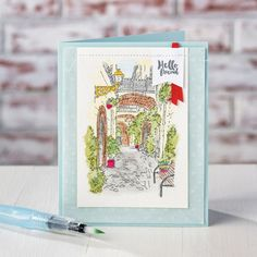 Mediterranean Moments Wood-Mount Stamp Set by Stampin' Up!