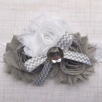Baby Headband or Clip ~*Gray Goosie*~ Lillie's Lovelies Boutique