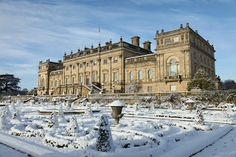 """stately-homes-of-england: """" Harewood House """" Harewood House, Chatsworth House, Yorkshire England, West Yorkshire, Winter Destinations, Grand Homes, Historical Architecture, Classical Architecture, English Countryside"""
