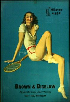 Original #Vintage #Posters -> Sport Posters -> #Tennis Girl Brown and Bigelow - AntikBar antikbar.co.uk