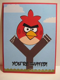 Danee's Stampin' Delights: MDS - Angry Birds Party Invitations
