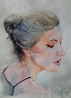 Acuarela Portraits, Water Colors, Graphite, Drawings, Head Shots, Portrait Photography, Portrait Paintings, Headshot Photography, Portrait