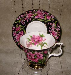 Royal Albert - Fireweed - Teacup Set from auntyannesattic on Ruby Lane