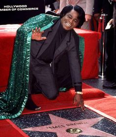 """January 10     1997: """"The Godfather of Soul,"""", James Brown receives a star on the Hollywood Walk of Fame."""