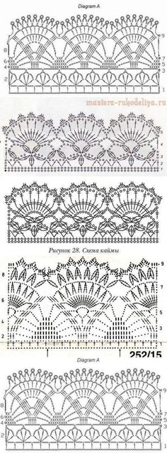 Crochet Pumpkin - Easy to Crochet I-Cord Tutorial 110 - Häkeln - Crochet Crochet I Cord, Crochet Lace Edging, Crochet Motifs, Crochet Borders, Crochet Diagram, Crochet Stitches Patterns, Crochet Chart, Crochet Doilies, Free Crochet