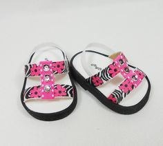 Black and Pink sandals for AG dolls
