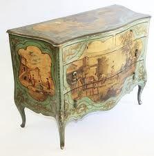 Italian hand-painted chest