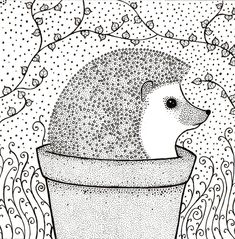 Items similar to Greetings Card, Blank, 'Hedgehog', Illustrated on Etsy Hedgehog Drawing, Hedgehog Craft, Square Card, Jungle Animals, Free Coloring Pages, Blank Cards, Squirrel, Hedgehogs, Giraffe
