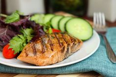 Too hot to turn on the oven? Get some fish on the grill this week! Eat Spin Run Repeat's Maple Glazed Grilled Salmon is easy to put together, and cooks up in just 10 minutes. Salmon is packed with ...