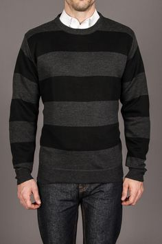 81d2af0988 Line 48 12  Wide Striped Crew Neck Sweater Jack Threads