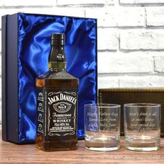 Personalised Engraved Hi ball mixer GLASS JACK DANIELS AND DIET COKE JD COKE