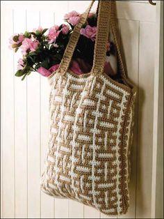 Mosaic Crochet Tote - #FC00939