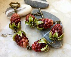 Blackberry bracelet of polymer clay berry bracelet