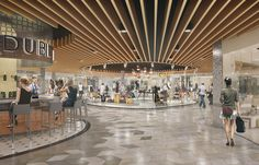 The million redevelopments of London Luton Airport required CGIs, animation and 360 VR content that would promote the completed project. Mall Design, Retail Store Design, Shop Front Design, Shopping Mall Interior, Retail Interior, Commercial Design, Commercial Interiors, Airport Design, Supermarket Design