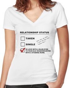 TMI - Malec : Magnus' Relationship Status Women's Fitted V-Neck T-Shirt